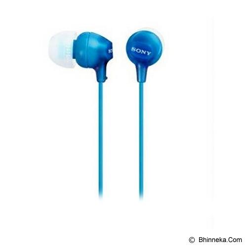 SONY Earphone [MDR-EX15 AP] - Blue - Earphone Ear Monitor / Iem